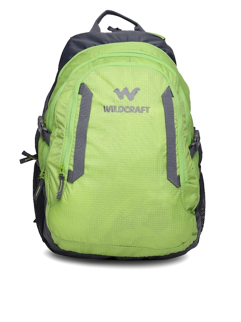 Wildcraft Unisex Green & Grey Paryak Laptop Backpack