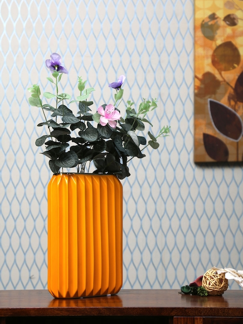 Athome by Nilkamal Yellow Vase