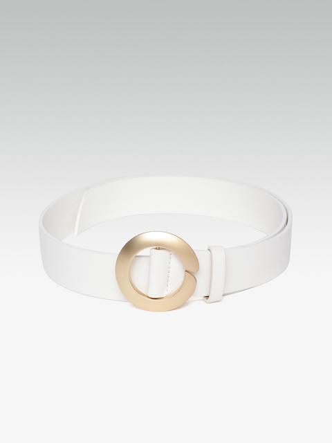 20Dresses Women White Solid Belt