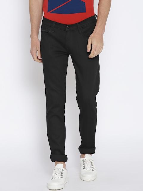 Lee Men Black Skinny Fit Low-Rise Clean Look Stretchable Jeans