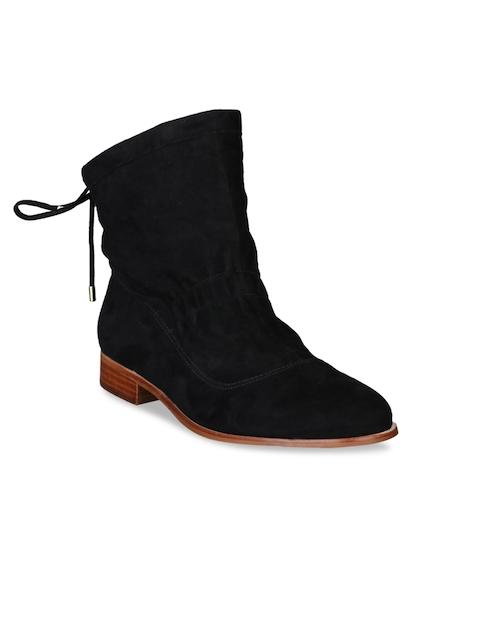 Clarks Women Black Flat Boots