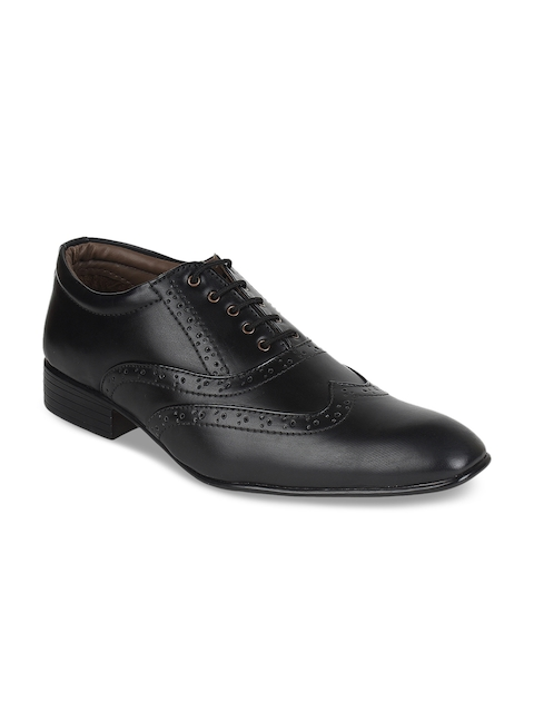 Guava Men Black Formal Brogues