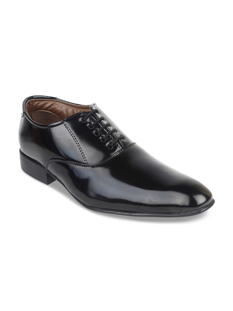 Guava Men Black Solid Formal Derbys