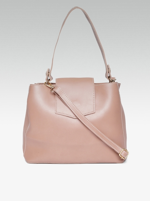 20Dresses Dusty Pink Solid Handheld Bag With Detachable Sling Strap
