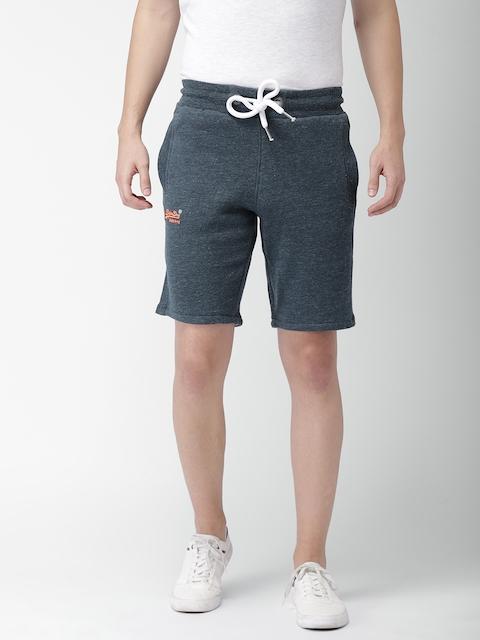 Superdry Men Blue Solid Regular Fit Sports Shorts