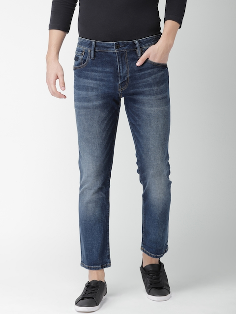 Superdry Men Blue Straight Fit Mid-Rise Clean Look Stretchable Jeans