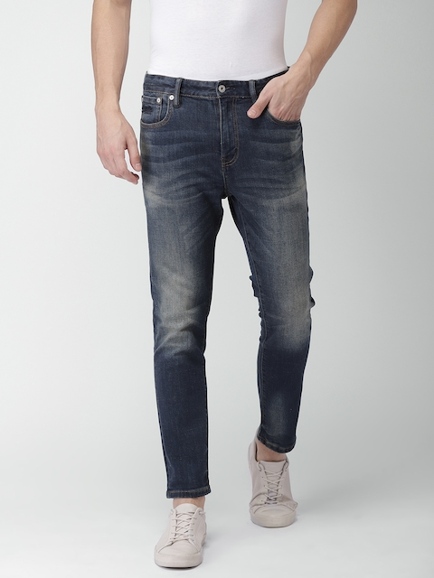 Superdry Men Blue Slim Fit Mid-Rise Clean Look Stretchable Jeans