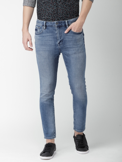 Superdry Men Blue Tyler Slim Fit Mid-Rise Clean Look Stretchable Jeans