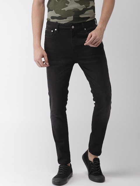 Superdry Men Black Skinny Fit Mid-Rise Clean Look Stretchable Jeans