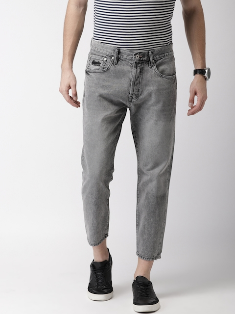 Superdry Men Grey Relaxed Fit Mid-Rise Clean Look TAPER Jeans