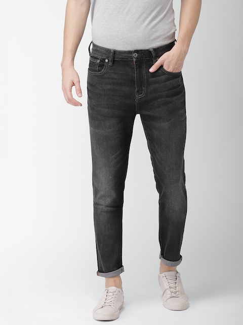 Superdry Men Black Tyler Slim Fit Mid-Rise Clean Look Stretchable Jeans