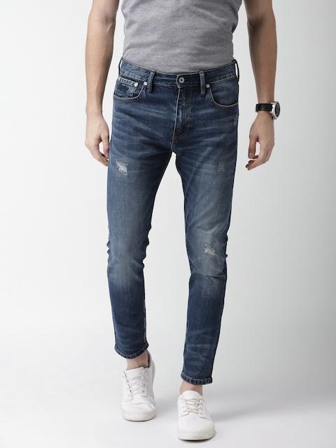 Superdry Men Blue Slim Fit Mid-Rise Mildly Distressed Stretchable TYLER Jeans