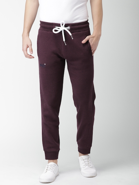 Superdry Men Burgundy Slim Fit Joggers
