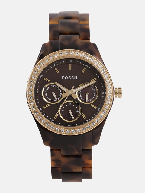 Fossil Women Brown Analogue Watch ES2795_OR