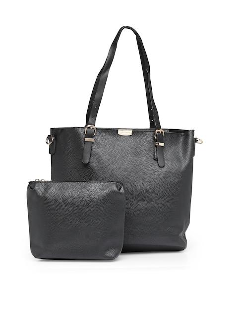 Lino Perros Black Solid Handbag