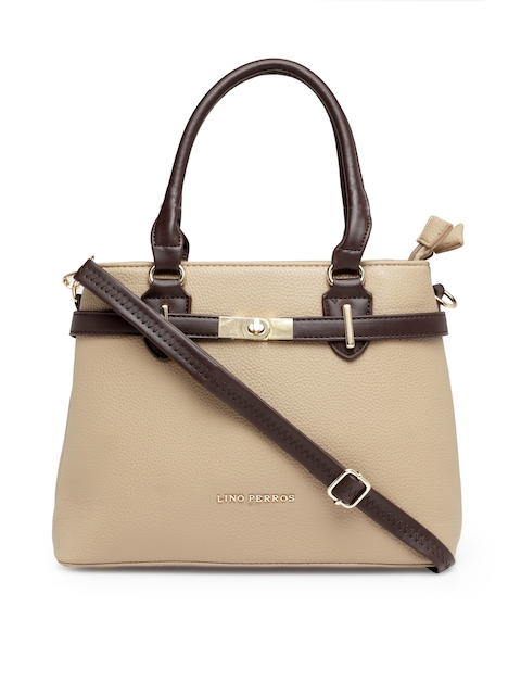 Lisa Hayden for Lino Perros Beige Solid Handheld Bag
