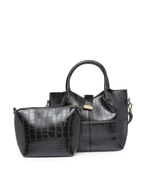 Lisa Hayden for Lino Perros Black Textured Handheld Bag
