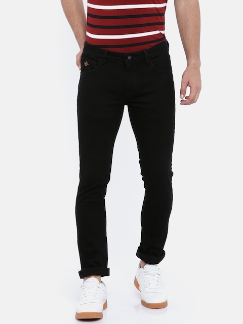 Arrow Sport Men Black Slim Fit Mid-Rise Clean Look Stretchable Jeans