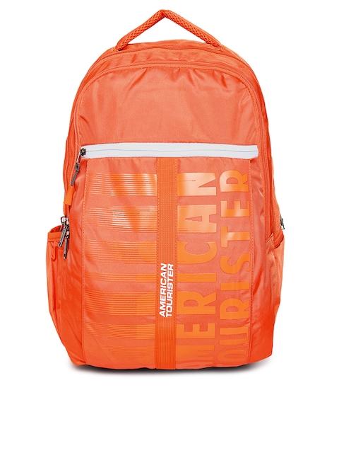 AMERICAN TOURISTER Unisex Orange Brand Logo X-JOCK Backpack