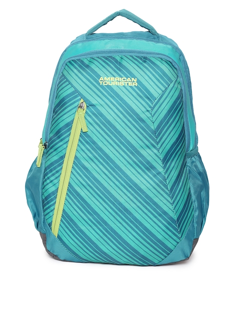 AMERICAN TOURISTER Unisex Blue Textured Backpack