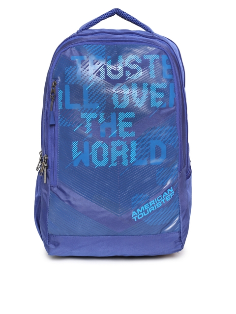 415332ee689 60%off AMERICAN TOURISTER Unisex Blue Graphic Print Jock Lap Backpack