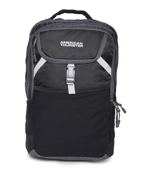 AMERICAN TOURISTER Unisex Black Solid Backpack
