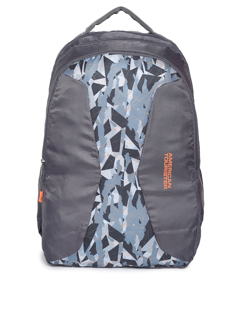 AMERICAN TOURISTER Unisex Grey Graphic Backpack