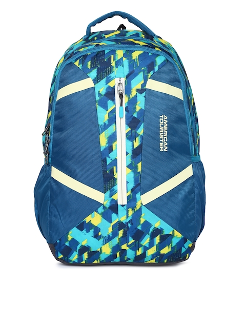 AMERICAN TOURISTER Unisex Blue Graphic Print Meso 02 Backpack