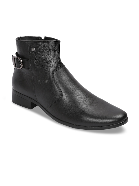 Red Chief Men Black Formal Leather Boots