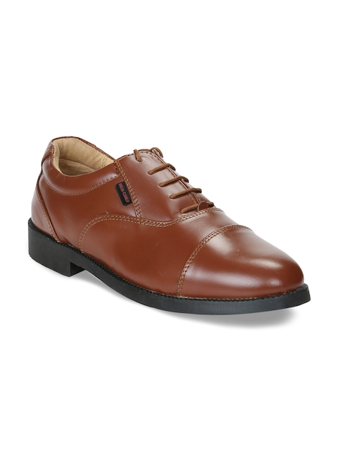 Red Chief Men Tan Brown Leather Formal Oxfords