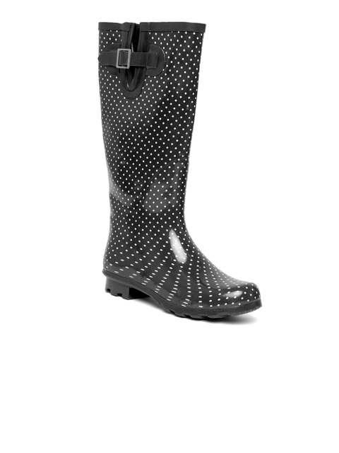 FOREVER 21 Women & White Black Printed High-Top Flat Boots
