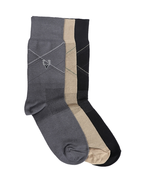 Allen Solly Men Set of 3 Calf-Length Socks