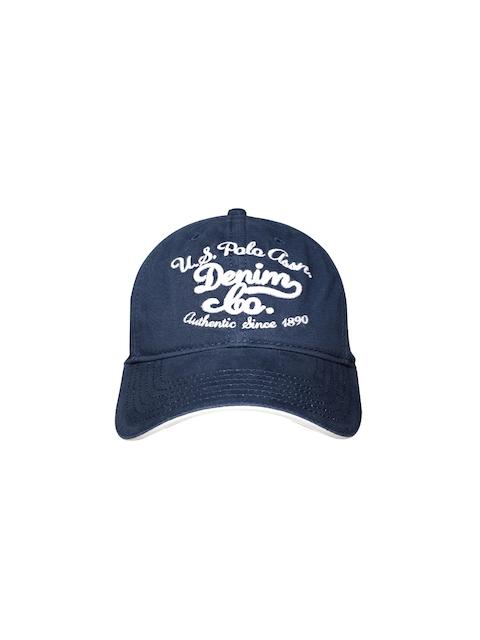 8c8e516c402de U.S. Polo Assn. Men Blue Embroidered Baseball Cap
