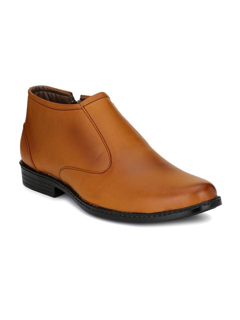 John Karsun Men Tan Brown Formal Boots