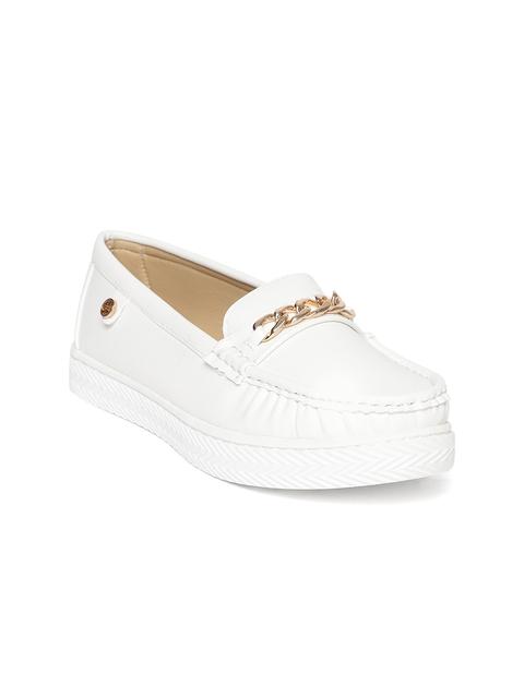 Carlton London Women White Loafers