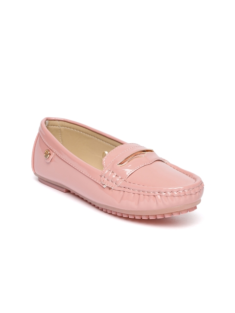 Carlton London Women Dusty Pink Loafers