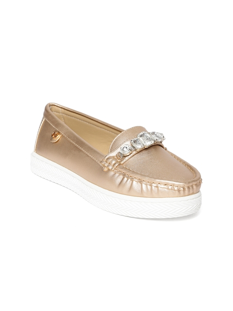 Carlton London Women Rose Gold-Toned Loafers