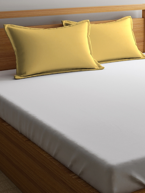 Portico New York Set of 2 Gold-Toned Solid 46 x 71 Rectangular Pillow Covers