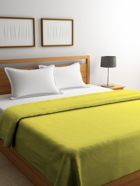 Portico New York Green Solid Reversible Duvet Cover