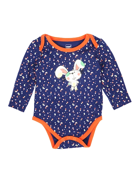 MeeMee Girls Blue Printed Bodysuit