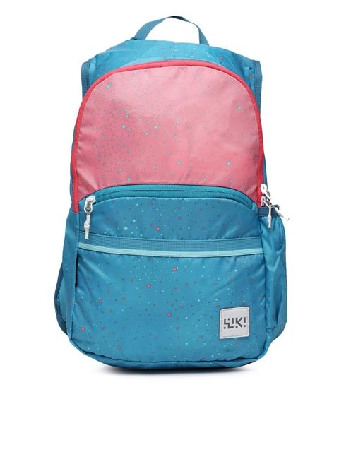 Wildcraft Unisex Blue & Pink Mini 4 Backpack