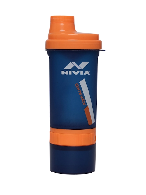 NIVIA Unisex Navy Blue & Orange Dominator Water Bottle 800 ml