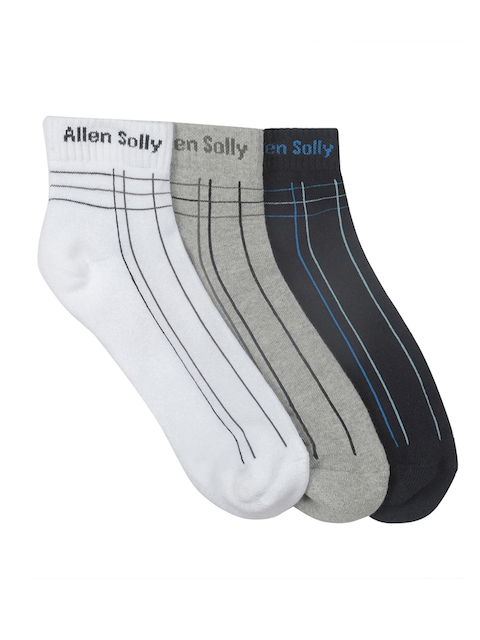 Allen Solly Men Pack Of 3 Ankle Length Socks