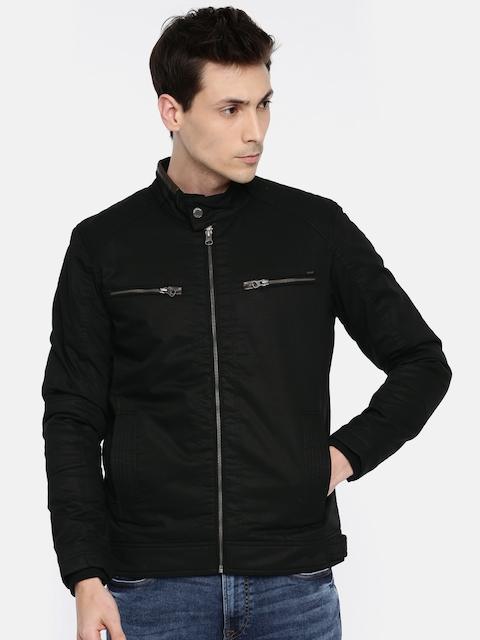 SPYKAR Men Black Solid Tailored Jacket