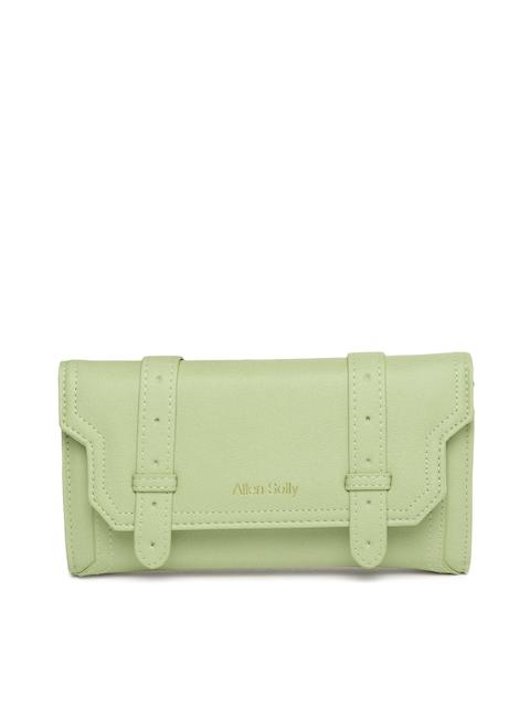 Allen Solly Women Green Solid Two Fold Wallet