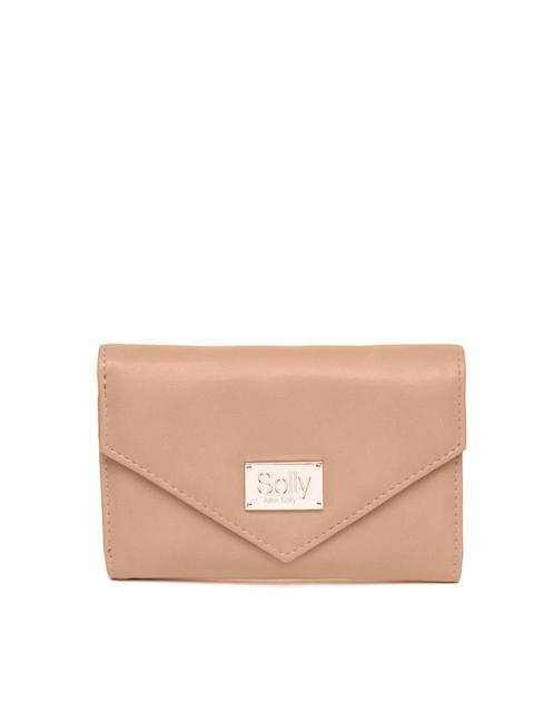Allen Solly Women Beige Solid Three Fold Wallet