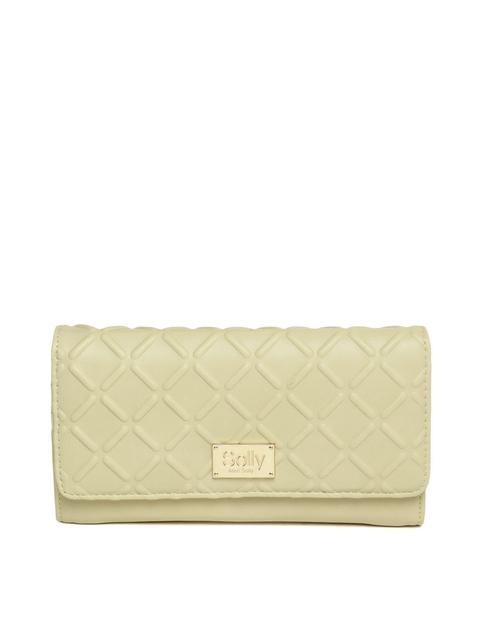 Allen Solly Women Beige Textured Two Fold Wallet