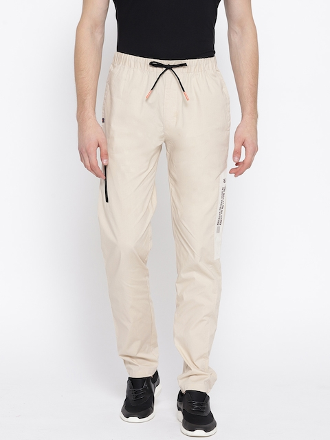 Monte Carlo Beige Solid Track Pants