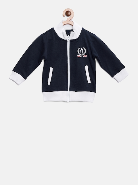 Gini and Jony Boys Navy Blue Solid Tailored Jacket