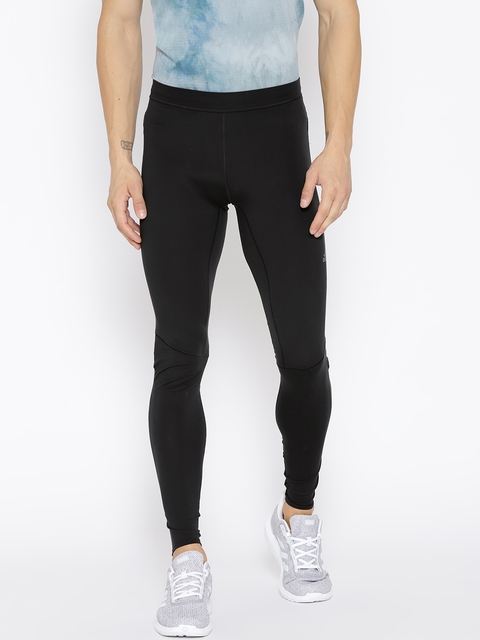 Adidas Men Black Solid Supernova Running Tights